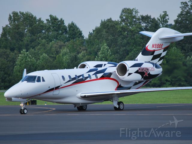 Cessna Citation X (N1JM) - CESSNA FINANCE CORPORATION (NASCAR driver Jamie McMurray) returning from the Brickyard 400 at KJQF. Still wearing the previous registration of N99BB. Thanks to his sponsor (Cessna), hes always the first one to get home. - 7/28/13