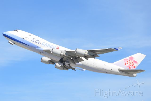 — — - China Airlines Cargo 747 takes off at LAX