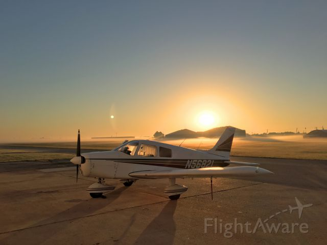 Piper Cherokee (N56821) - Early morning departure from La Porte, TX as the ground fog dissipates.