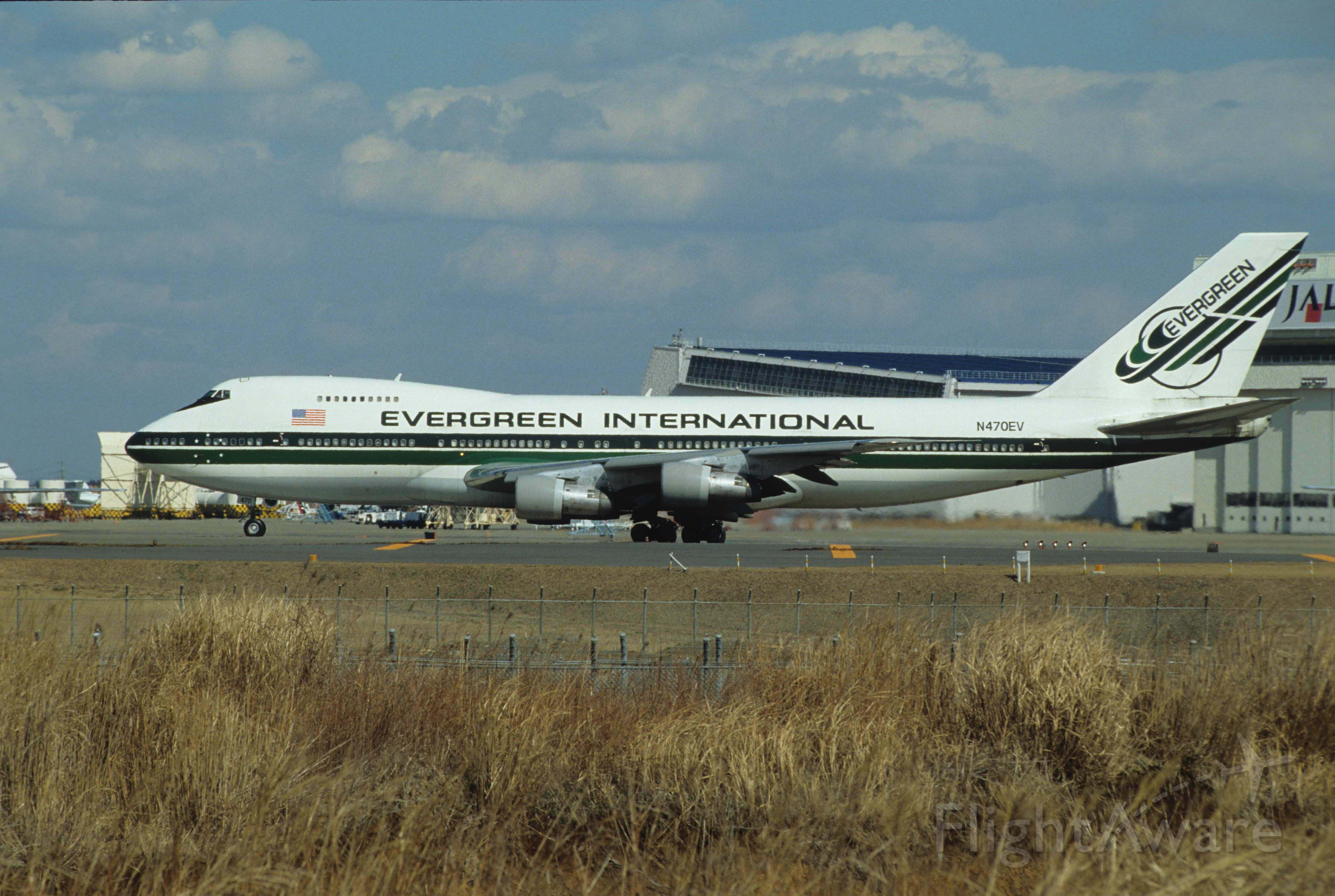 Boeing 747-200 (N470EV) - Departure at Narita Intl Airport Rwy34 on 1991/02/23