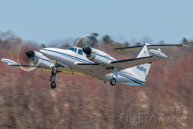 Piper Cheyenne 400 (N46HL) - Piper PA-42-1000 N46HL taking off from KLOM (WIngs Field)br /1/125 sec. f/22 500mm ISO 250