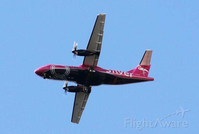 Aerospatiale ATR-42-600 (N402SV) - Wheels down, making final approach to Orlando International. MCO<br />Clear skies, runway in sight.