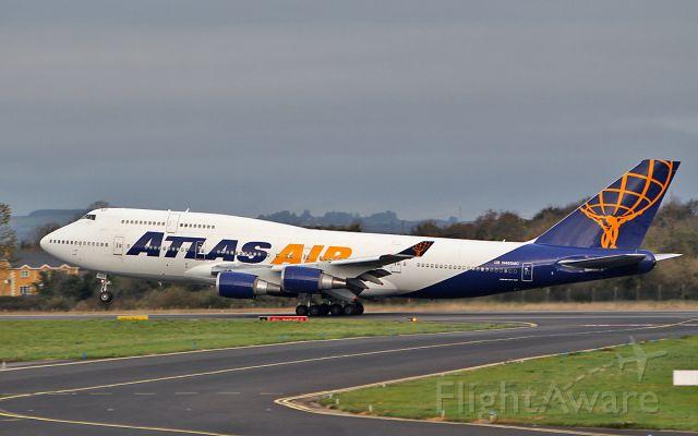 Boeing 747-400 (N465MC) - atlas air b747-446 n465mc dep shannon 20/10/18.