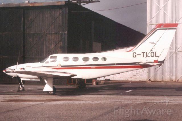 Cessna 421 (G-TLOL) - Seen here in Jan-85.br /br /Reregistered G-TREC 2-Jul-96.
