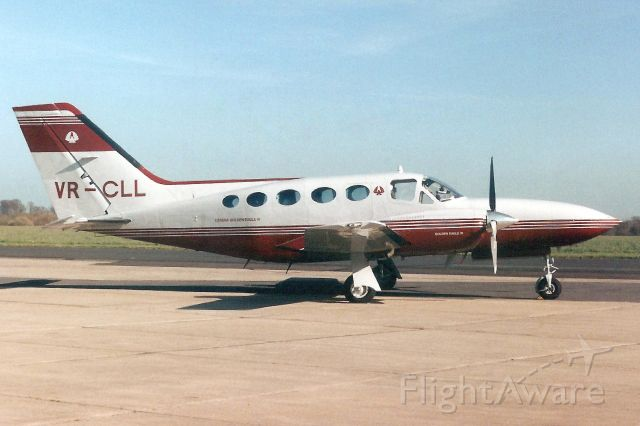 Cessna 421 (VR-CLL) - Seen here in Apr-95.br /br /Reregistered VR-CLL 1-Jul-97,br /then N421AG 31-Aug-99.