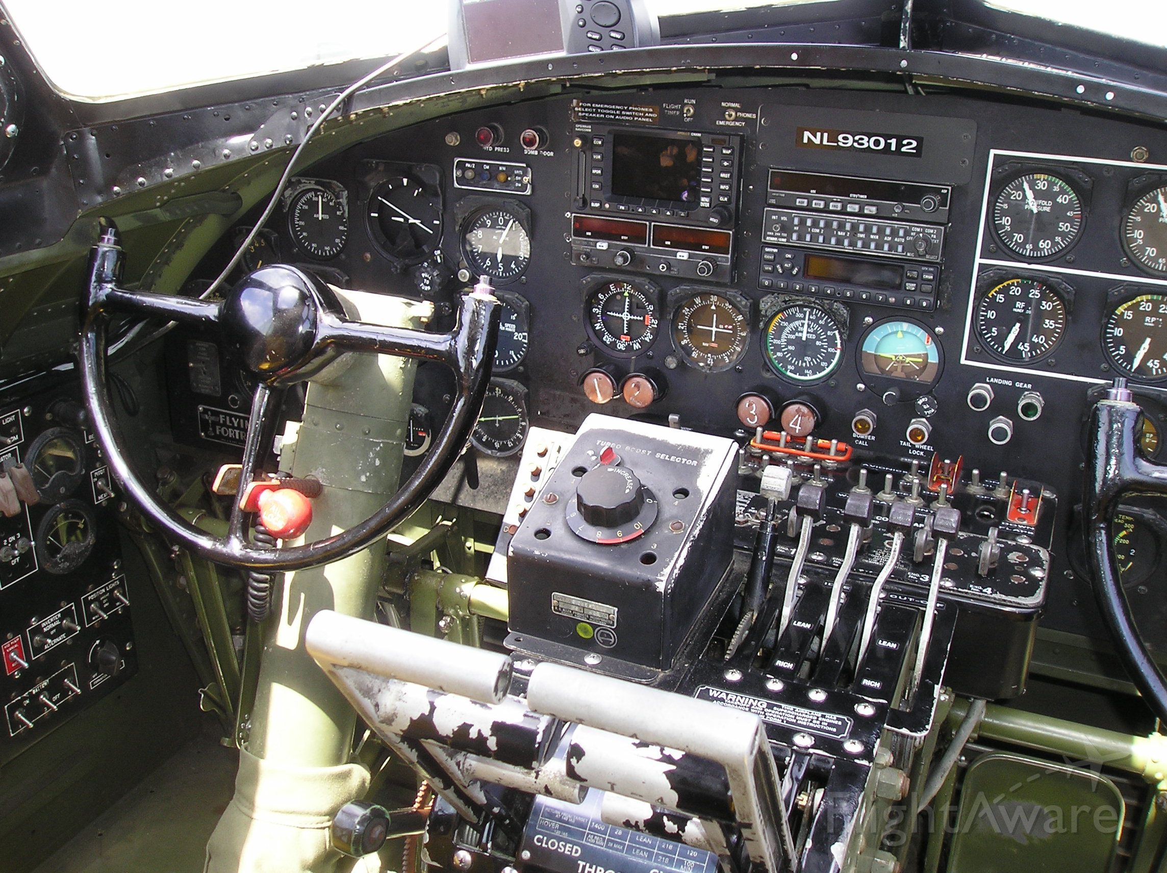 — — - B-17 Cockpit