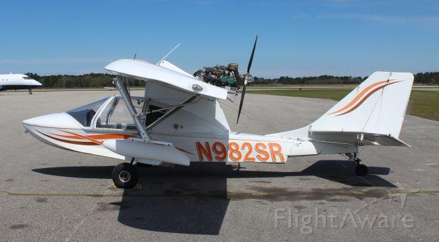 PROGRESSIVE AERODYNE SeaRey (N982SR) - A Progressive Aerodyne SeaRey LSA on the Gulf Air Center ramp at Jack Edwards National Airport, Gulf Shores, AL - March 19, 2019.