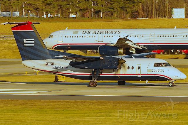 de Havilland Dash 8-100 (N809EX) - Intersection departure from 18C/E10 for this Piedmont Dash 8.