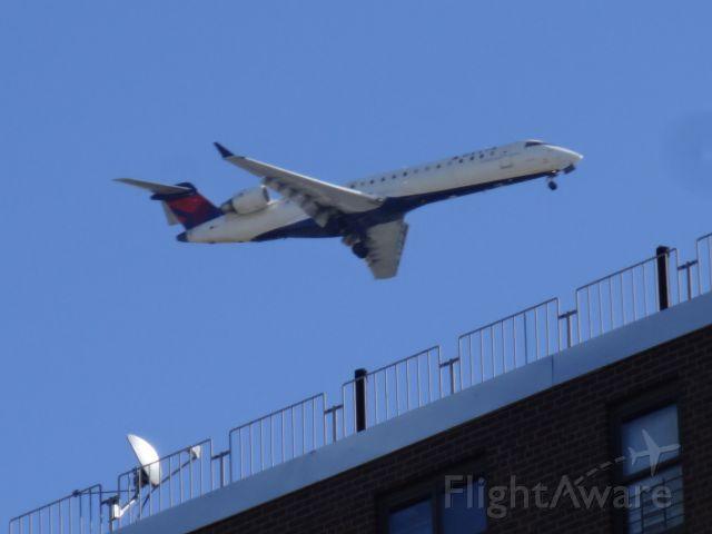 — — - landing near Laguardia Airport New York.