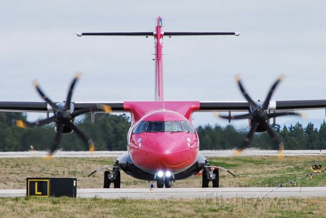 N703SV — - One of the first Silver Airways flights to GSP turning onto the taxiway.  3/21/21.