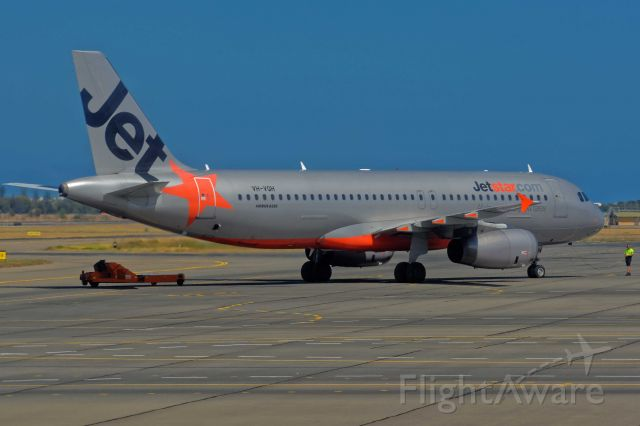 Airbus A320 (VH-VQH) - on Departure