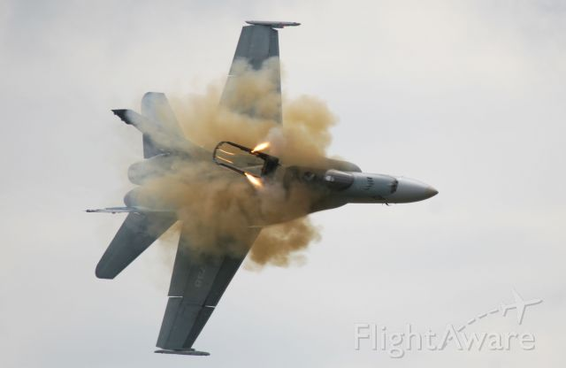 McDonnell Douglas FA-18 Hornet (18-8738) - Canopy Release during ejection. I believe this is the first time this has been photographed with the rockets lit