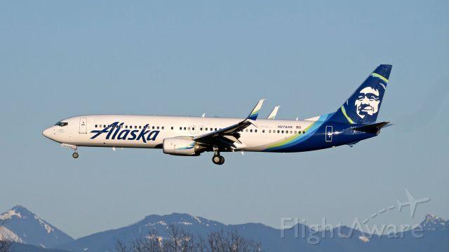 Boeing 737-900 (N278AK) - ASA199 from PIT on final to SEA Rwy 34L on 3.18.19.(B737-990(ER)(WL) / ln 6584 / cn 44113).