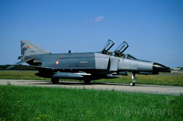 77-0285 — - Turkish AF F-4E-2020 Terminator on the taxitrack at Lechfeld AB during the exercise ELITE 2008
