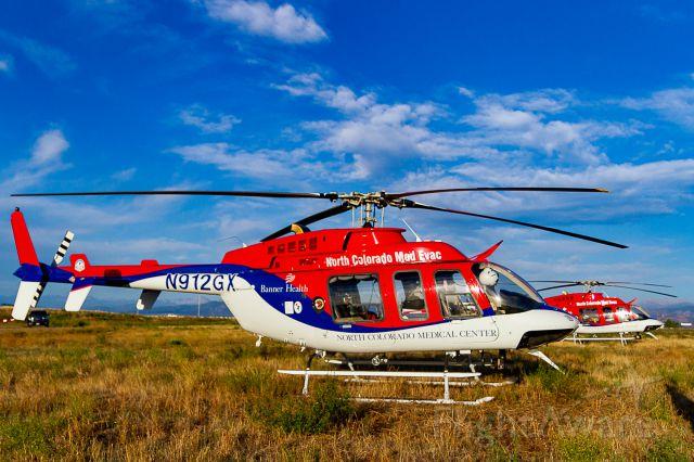 Bell 407 (N912GX) - Waiting with N911GX to escort Northern Colorado Honor Flight #21, 9/9/2018.