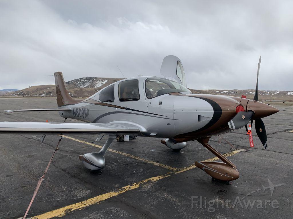 Cirrus SR-22 (N809MP) - Ramp at Gunnison.  TKS required