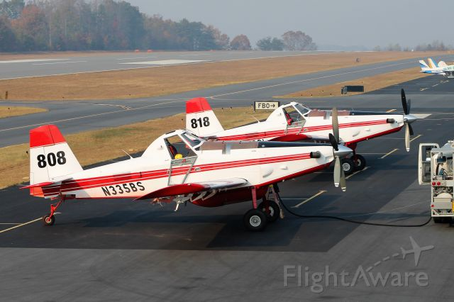 N335BS — - One of 7 Air Tractors assisting the NC Forest Service on a wildland fire.