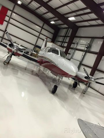 Cessna Chancellor (N414MP) - In the hanger at GHG.