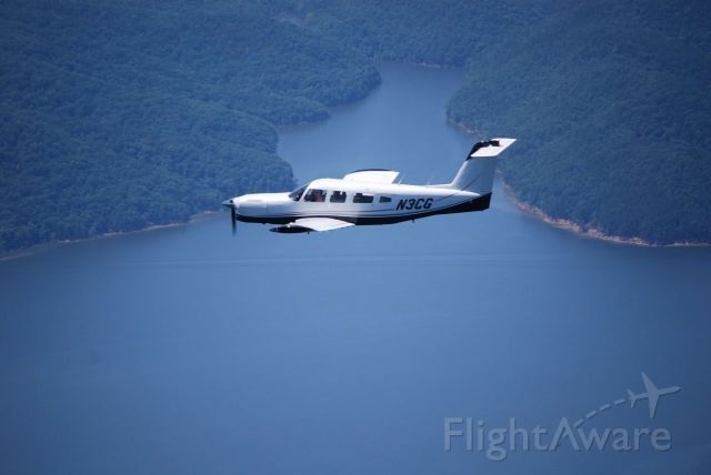 Piper Saratoga (N3CG) - Returning home from paint shop