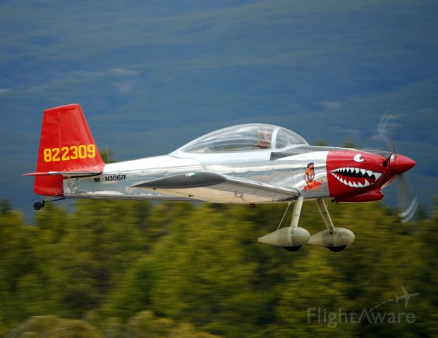 """Vans RV-8 (N3067F) - """"Peaches"""" makes a high speed pass after departing from the Leadville-Lake County Airport."""