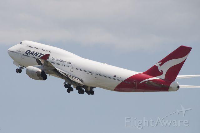 "Boeing 747-400 (VH-OJT) - ""Fraser Island"" departing to KLAX as QFA15"