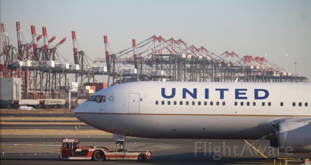 BOEING 767-300 (N666UA) - Taken from inside Terminal B