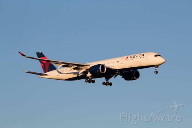 Airbus A350-900 (N506DN) - Delta A350-900 coming in from Seoul in some amazing morning golden hour.
