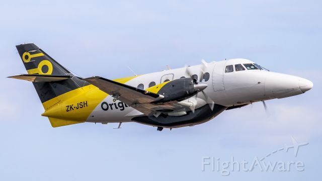 ZK-JSH — - This is one of the first flights of JSH out of Palmy after the airline continued operations.