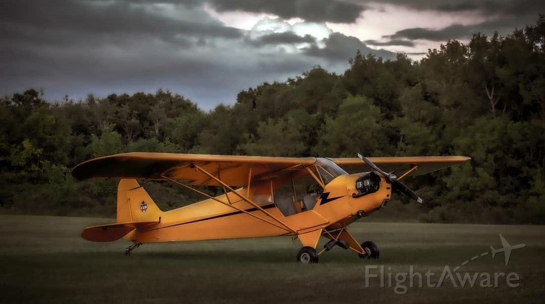 Piper NE Cub (C-FNGQ) - 1945 Piper J3 Cub J3C-65 prior to local flight around Stirling, Ontario,  Canada