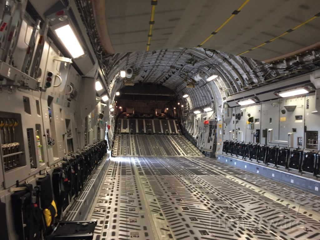 Boeing Globemaster III — - Inside of the C17 I toured it was awsome br /br /Wright Patterson