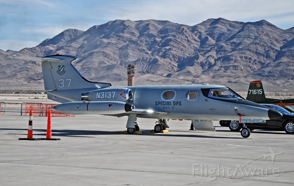 """Learjet 24 (N3137) - N3137 Bombardier Learjet 24 C/N 123 """"Special Ops Area 37""""  Aviation Nation 2012 Private  Las Vegas - Nellis AFB (LSV / KLSV) USA - Nevada, November 10, 2012 Photo: Tomas Del Coro"""