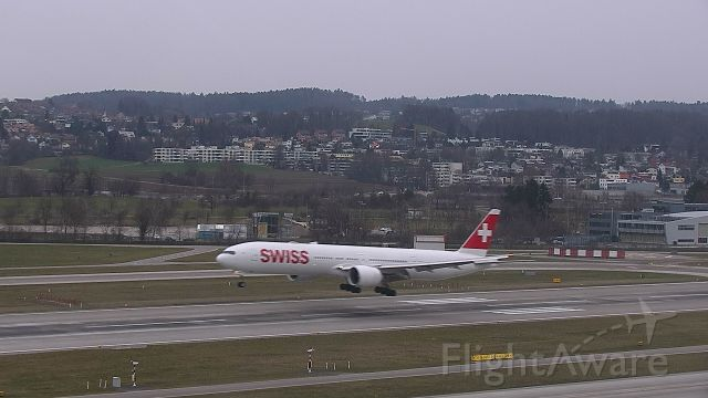 BOEING 777-300ER (HB-JNG) - Arriving from Vienna as SWR 1579