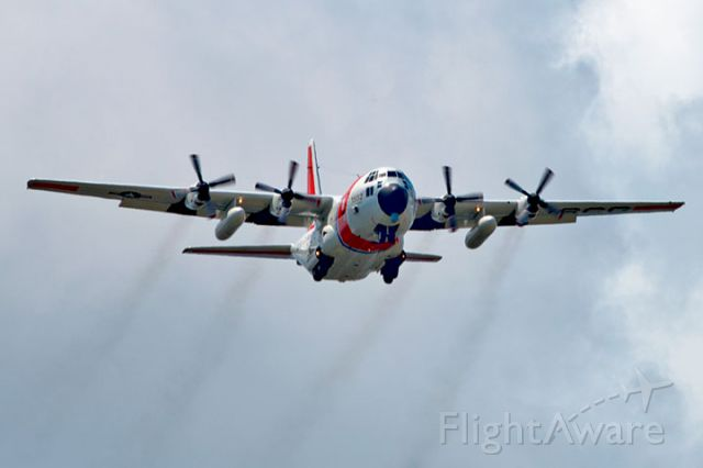 CG1502 — - 4/10/13:  U. S. Coast Guard Lockheed HC-130H Hercules #CG-1502 from Coast Guard Air Station Clearwater on short final approach over Miami Lakes enroute to runway 9-left at Opa-locka Executive Airport, home of USCG Air Station Miami.