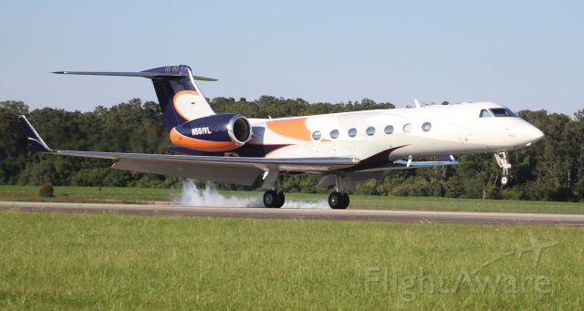 Gulfstream Aerospace Gulfstream V (N551VL) - A Gulfstream Aerospace GV-SP at touchdown on Runway 18 at Pryor Field Regional Airport, Decatur, AL - July 10, 2017.