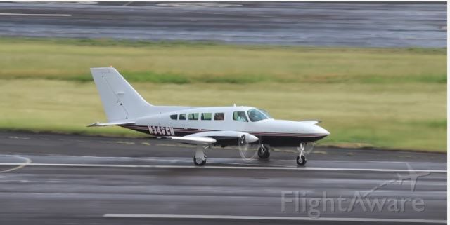 Cessna 402 (N346CH) - N346CH taxiing for departure from ROBERT L. BRADSHAW INT