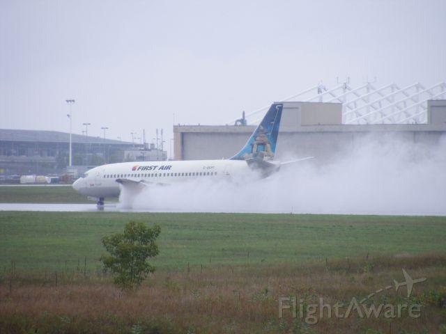 C-GCPT — - landing on a wet runway