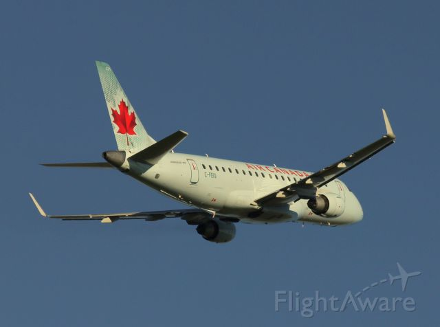 Embraer ERJ 175 (C-FEIQ) - Air Canada Embraer 175 departing CYQR for Toronto.