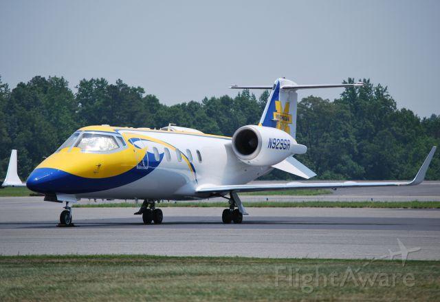"""Learjet 60 (N929SR) - T & M AIR LLC - University of Michigan """"Go Big Blue"""" at KJQF - 6/1/11"""