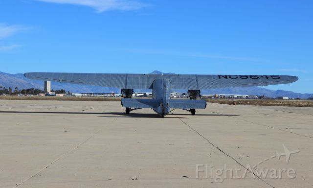 NC9645 — - EAA's Ford Trimotor at Tucson International 1/19/2019