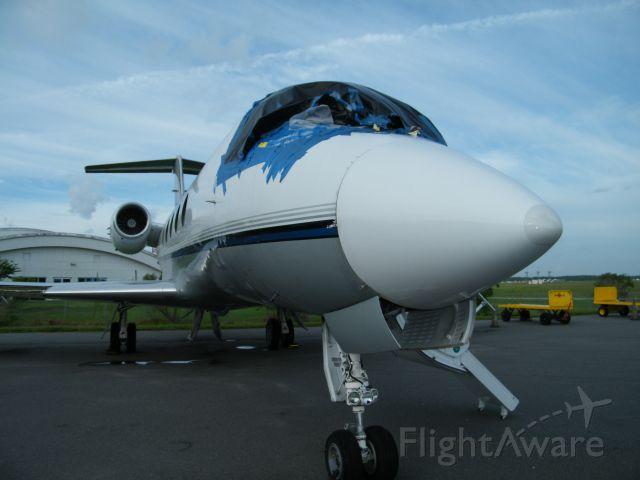 Gulfstream American Gulfstream 2 (N671LW) - Iindshields are out.