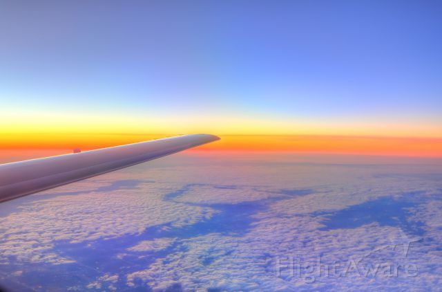 Cessna Citation CJ3 (N443PW) - Sunset at 45,000 feet