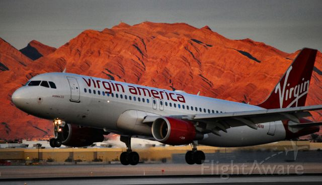 Airbus A320 (N636VA) - Virgin America Airbus A320-214 N636VA (cn 3460) airplane 2.0  Las Vegas - McCarran International (LAS / KLAS) USA - Nevada, January 31, 2010 Photo: Tomas Del Coro