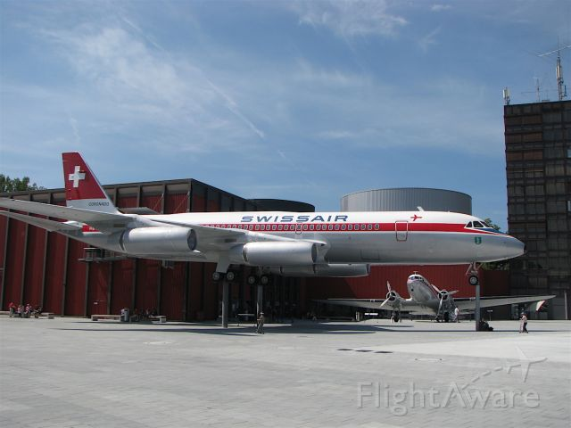 HB-ICC — - Swissair Convair 990A Coronado at the Transportation Museum in Lucerne, Switzerland. I have flown this particular plane (HB-ICC) as a passenger on a number of occasions between Geneva and Douala in the 60s and 70s before it was decommissioned and put in this museum.