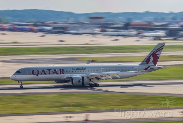 Airbus A350-900 (A7-ALN) - Slowing down after a long flight from Doha