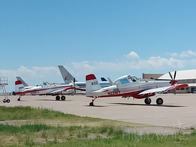 AIR TRACTOR Fire Boss (N23WT) - SEATs 832 and 898 waiting for their next assignment