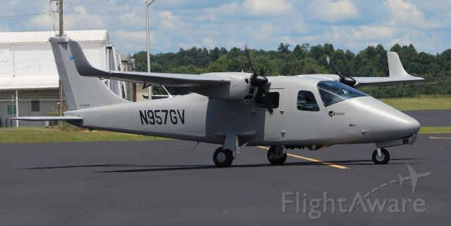 N957GV — - A Tecnam P06T taxiing along the ramp at Winchester Municipal Airport, TN - August 3, 2018.