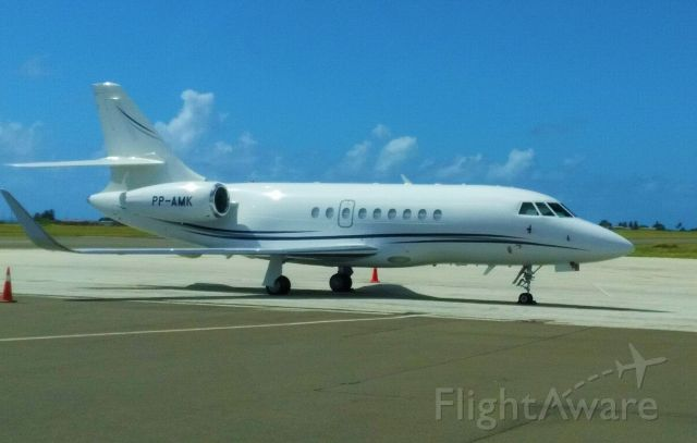 Dassault Falcon 2000 (PP-AMK) - Not the best picture because it was snapped on a phone while driving in the airport