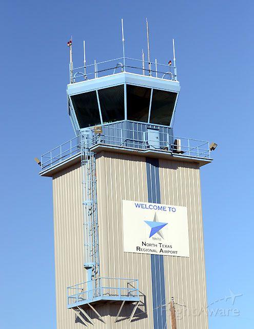 — — - KGYI ATC Tower