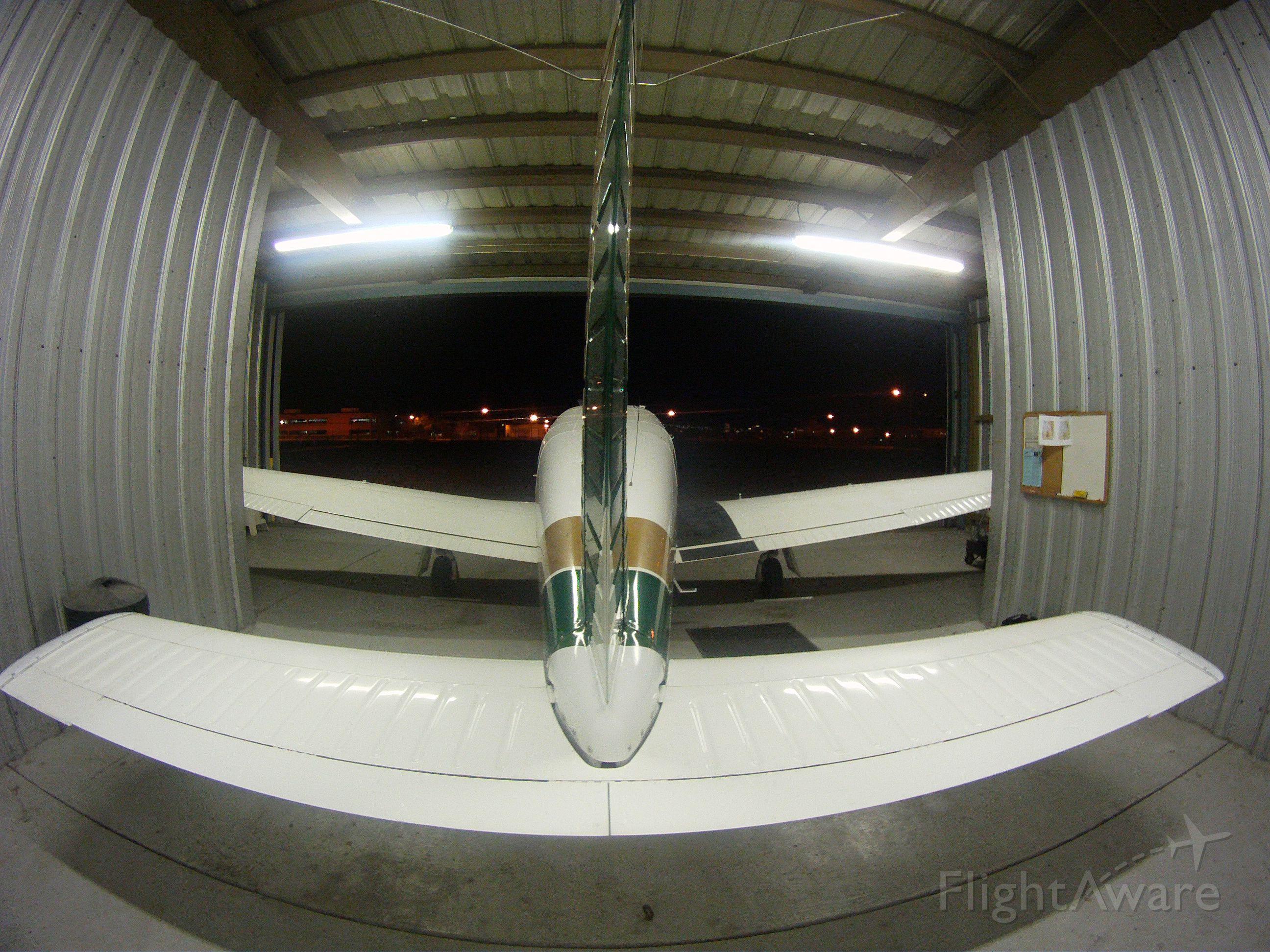 Piper Cherokee Arrow (N3588M) - Keeping warm in the hanger!