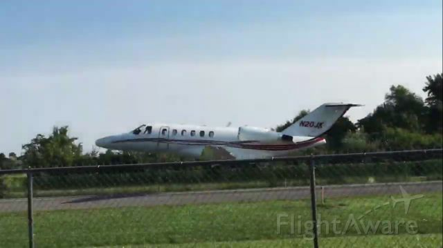 N20JK — - 2002 Cessna Citation CJ2 departing Mountain View on a beautiful and clear day.